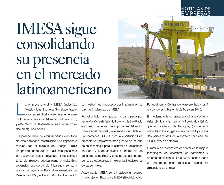 Imesa sigue consolidando su presencia en el mercado lationamericano