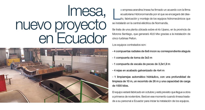Imesa, nuevo proyecto en Ecuador
